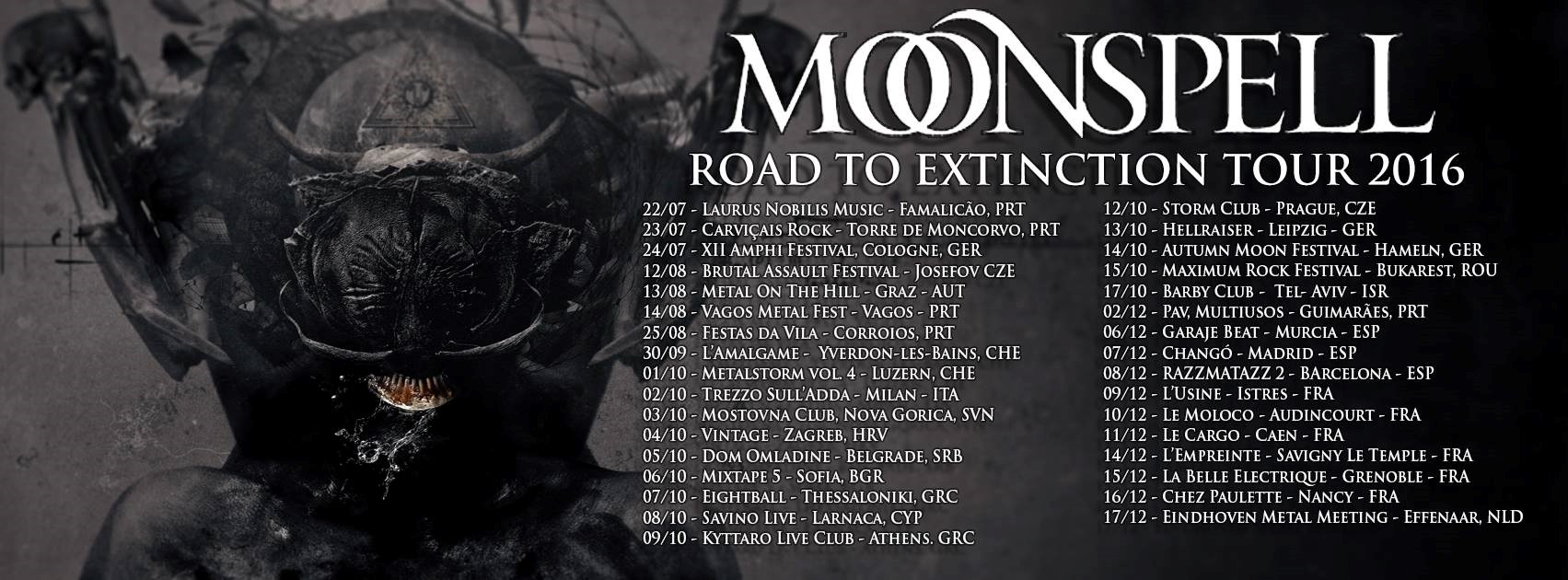 Moonspell - Road To Extinction Tour 2016